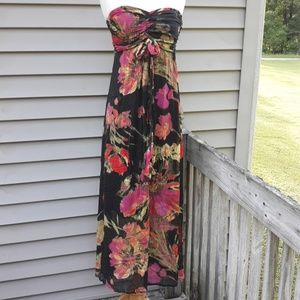 Xhilaration Floral Halter Maxi Dress Size XS